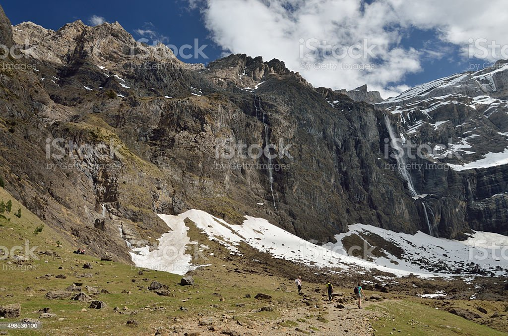 Cirque of Gavarnie in spring stock photo