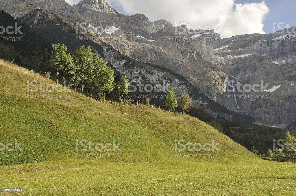Cirque of Gavarnie, Pyrenees (France) stock photo