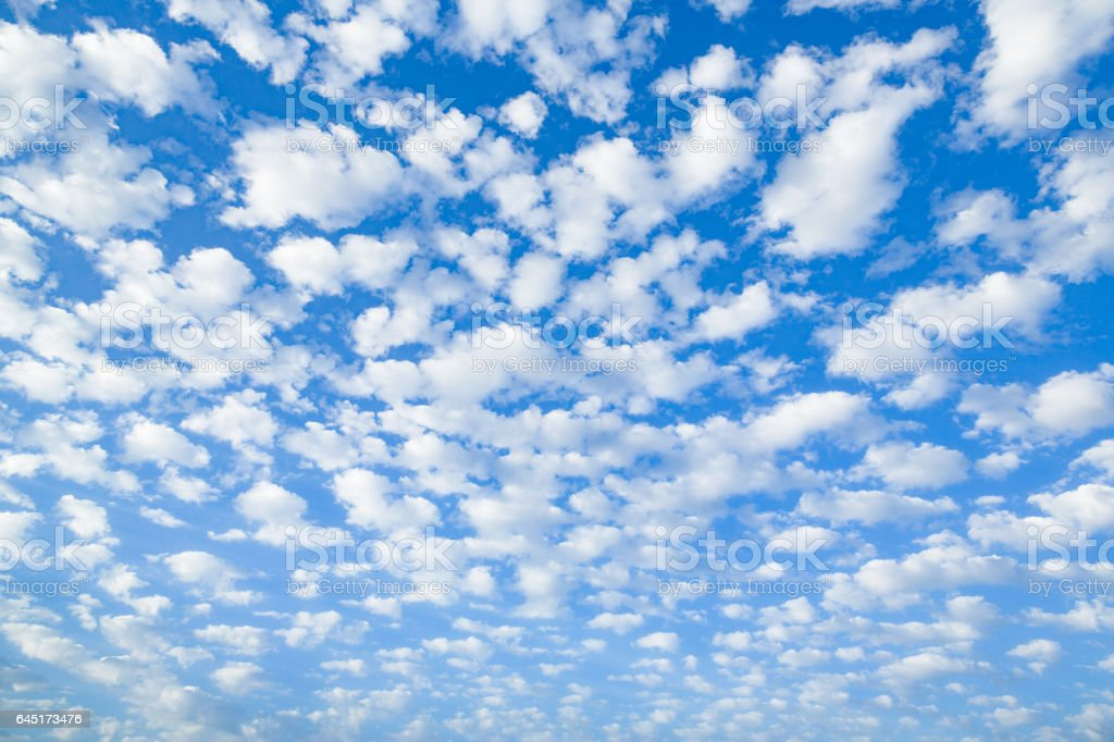 Cirrocumulus clouds cloudscape stock photo