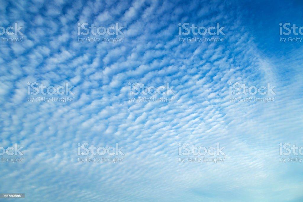 Cirrocumulus Clouds stock photo