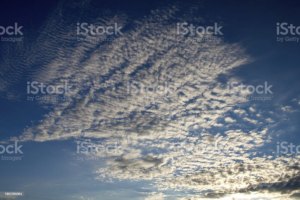 Cirrocumulus cloudscape royalty-free stock photo