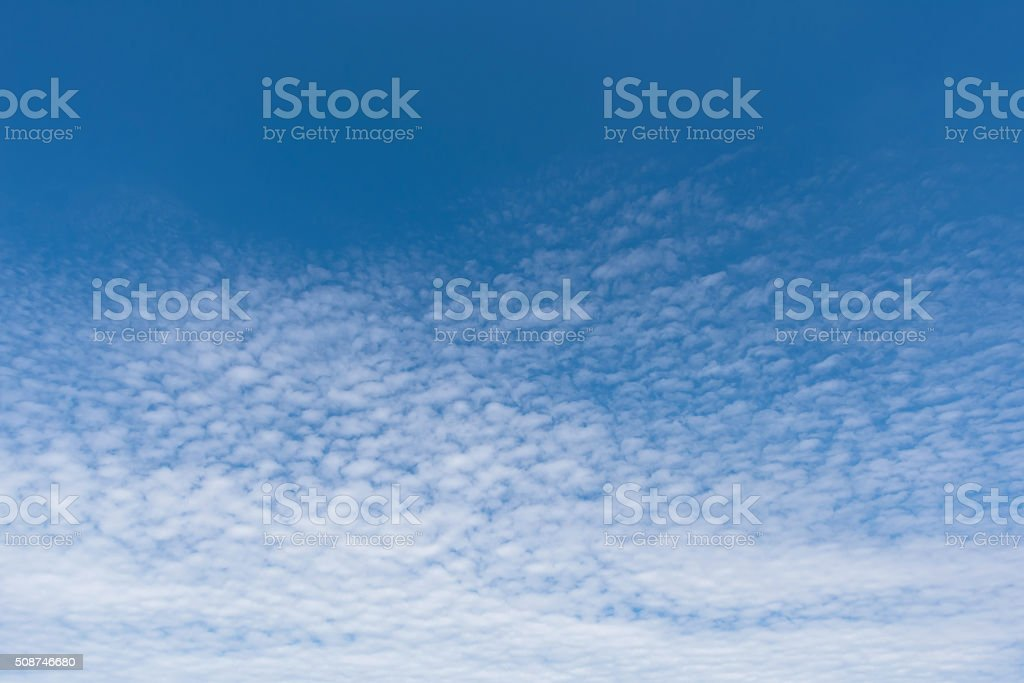 Cirrocumulus with blue sky stock photo