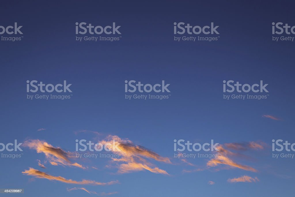 Cirrostratus Clouds at Sunset royalty-free stock photo