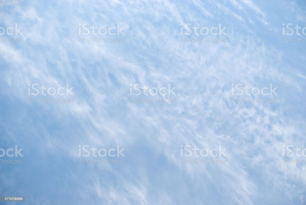 Cirrus Cloud Background royalty-free stock photo