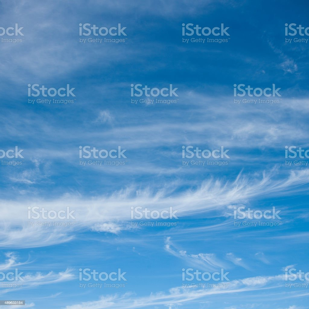 Cirrus cloud formations stock photo