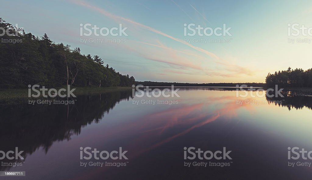 Cirrus Cloud Sunset stock photo