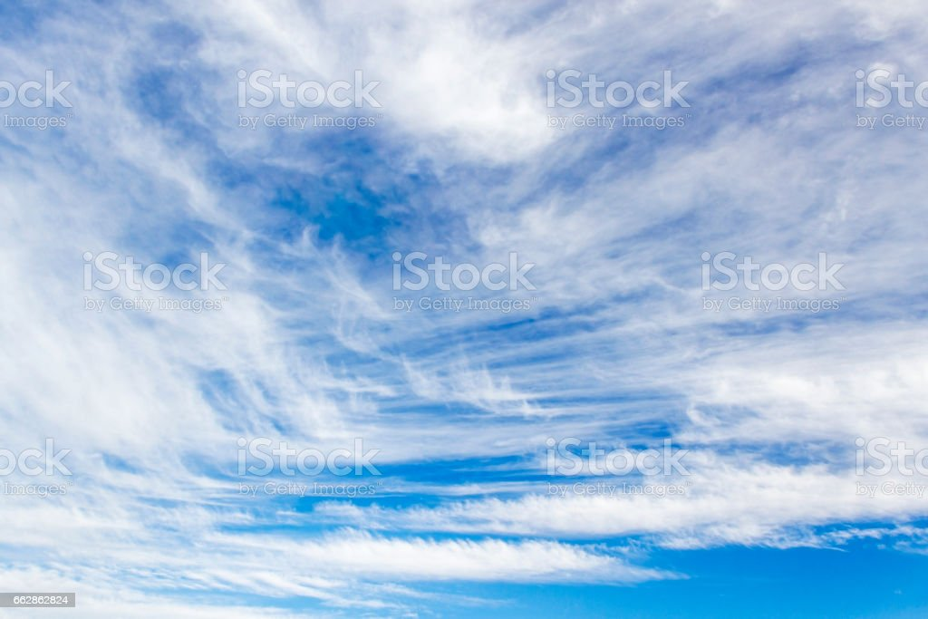 Cirrus clouds on the sky stock photo