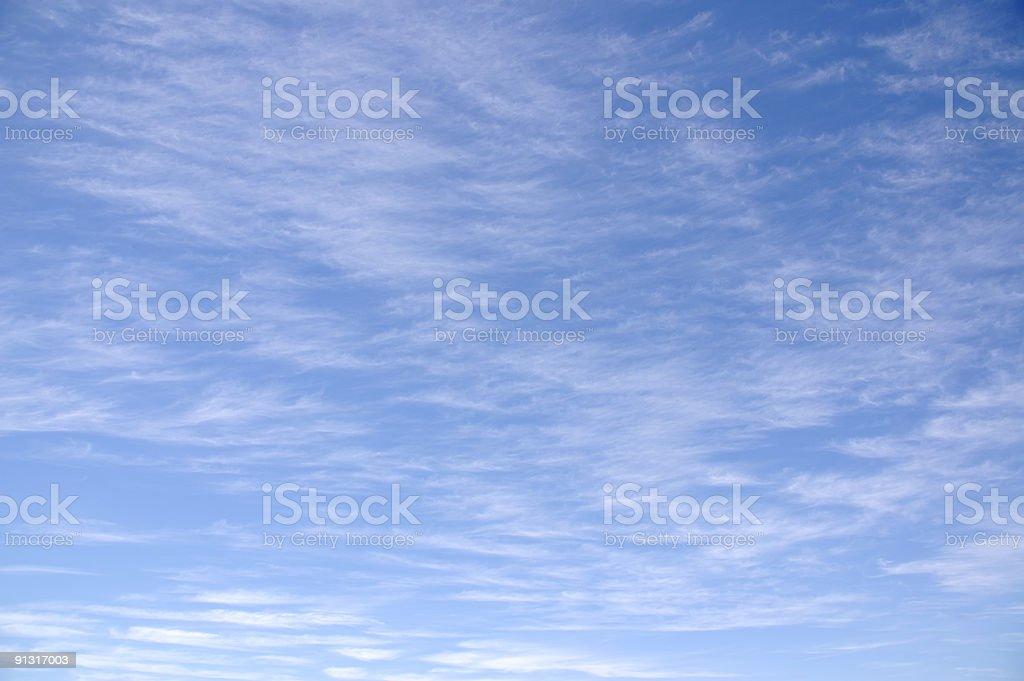 Cirrus Clouds Seven royalty-free stock photo