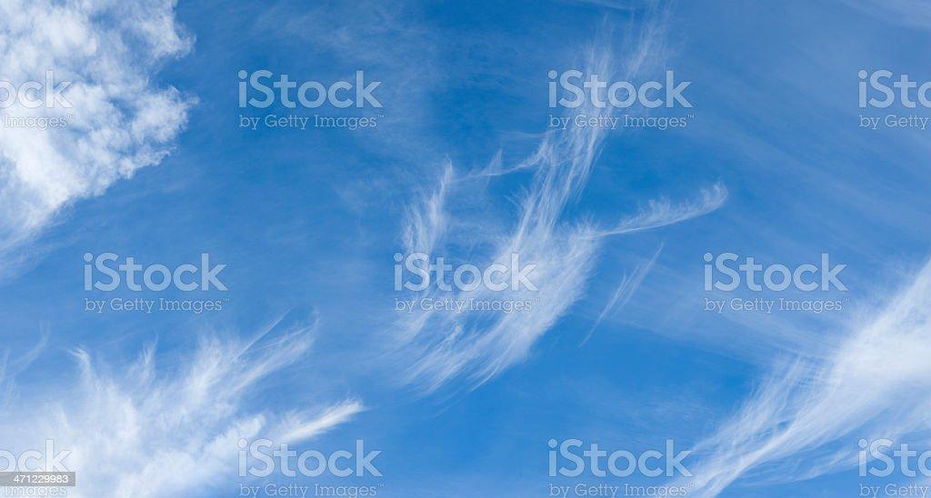 Cirrus Cloudscape (image size XXXL) royalty-free stock photo