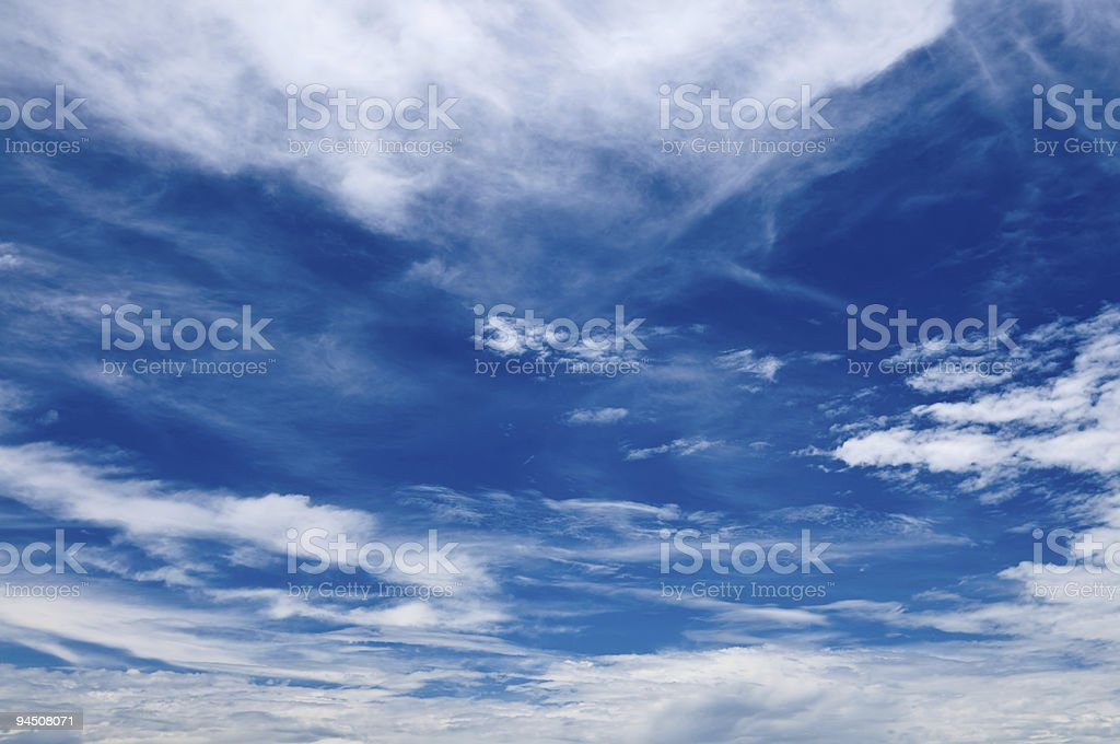 Cirrus Cloudscapes royalty-free stock photo