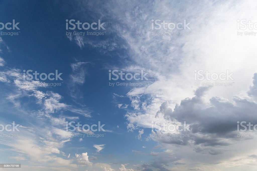 Cirrus Sky stock photo