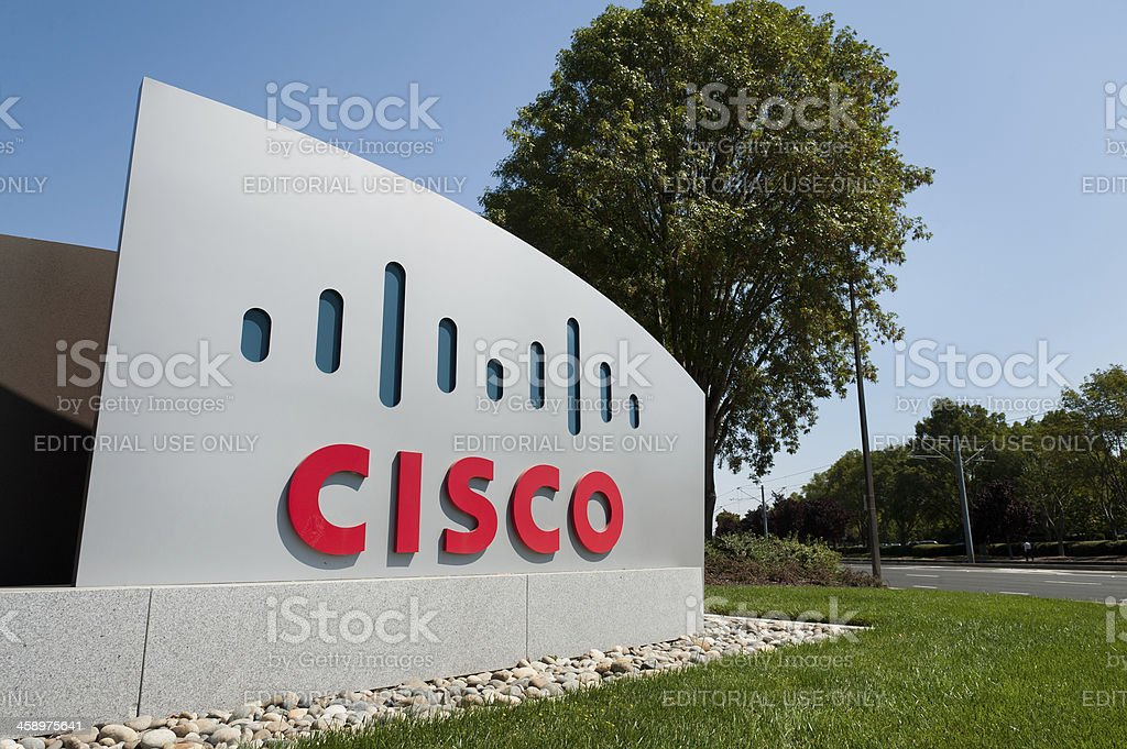 Cisco Systems Headquarters Office in San Jose, California royalty-free stock photo