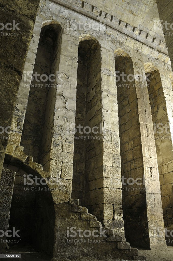 Cistern of Dara, Mardin, Turkey stock photo