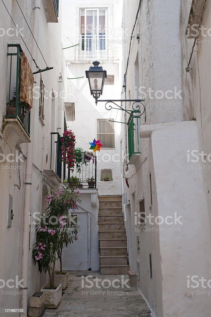 Cisternino (Brindisi, Puglia, Italy) - Old town royalty-free stock photo