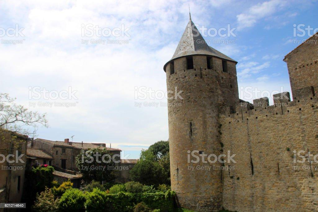 Cité médiévale de Carcassonne, France stock photo