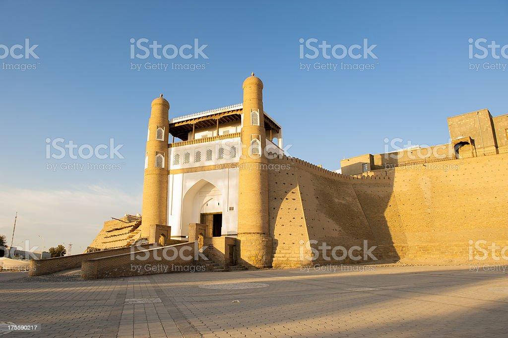 Citadel Ark in Bukhara, Uzbekistan stock photo