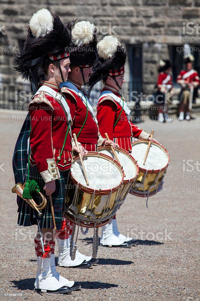 Citadel Hill Anniversary Drummers royalty-free stock photo