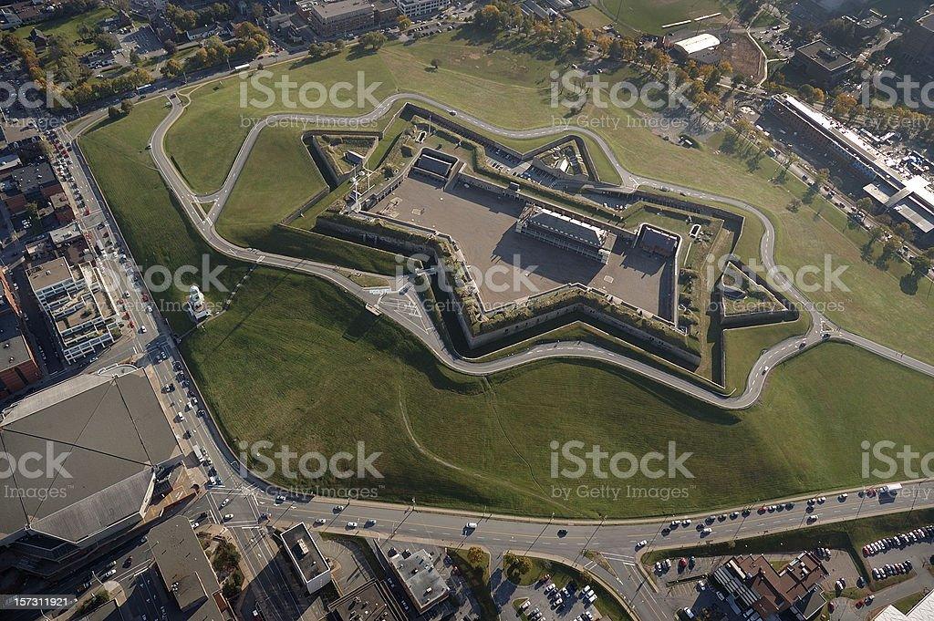 Citadel Hill, Halifax Nova Scotia Canada. Aerial view stock photo