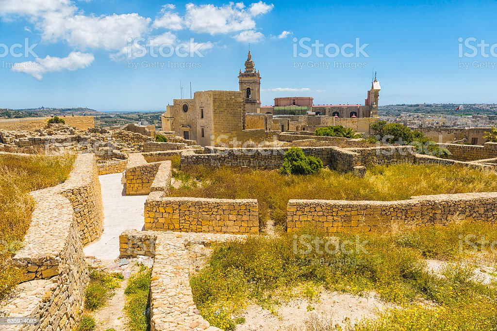 Cittadella  in Gozo, Malta stock photo