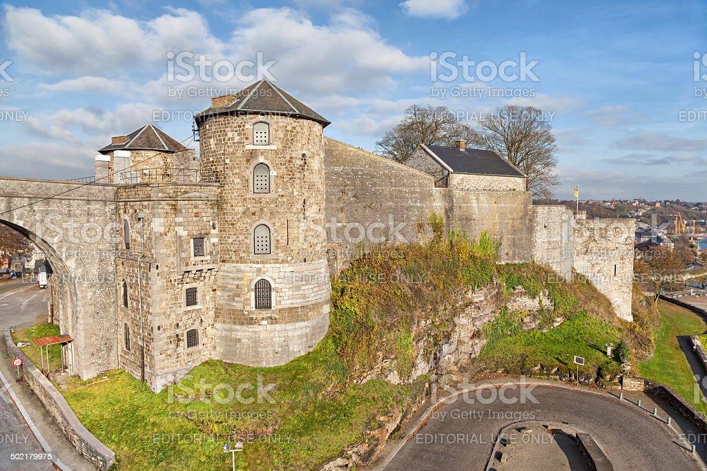 Citadel in Namur, Belgium stock photo