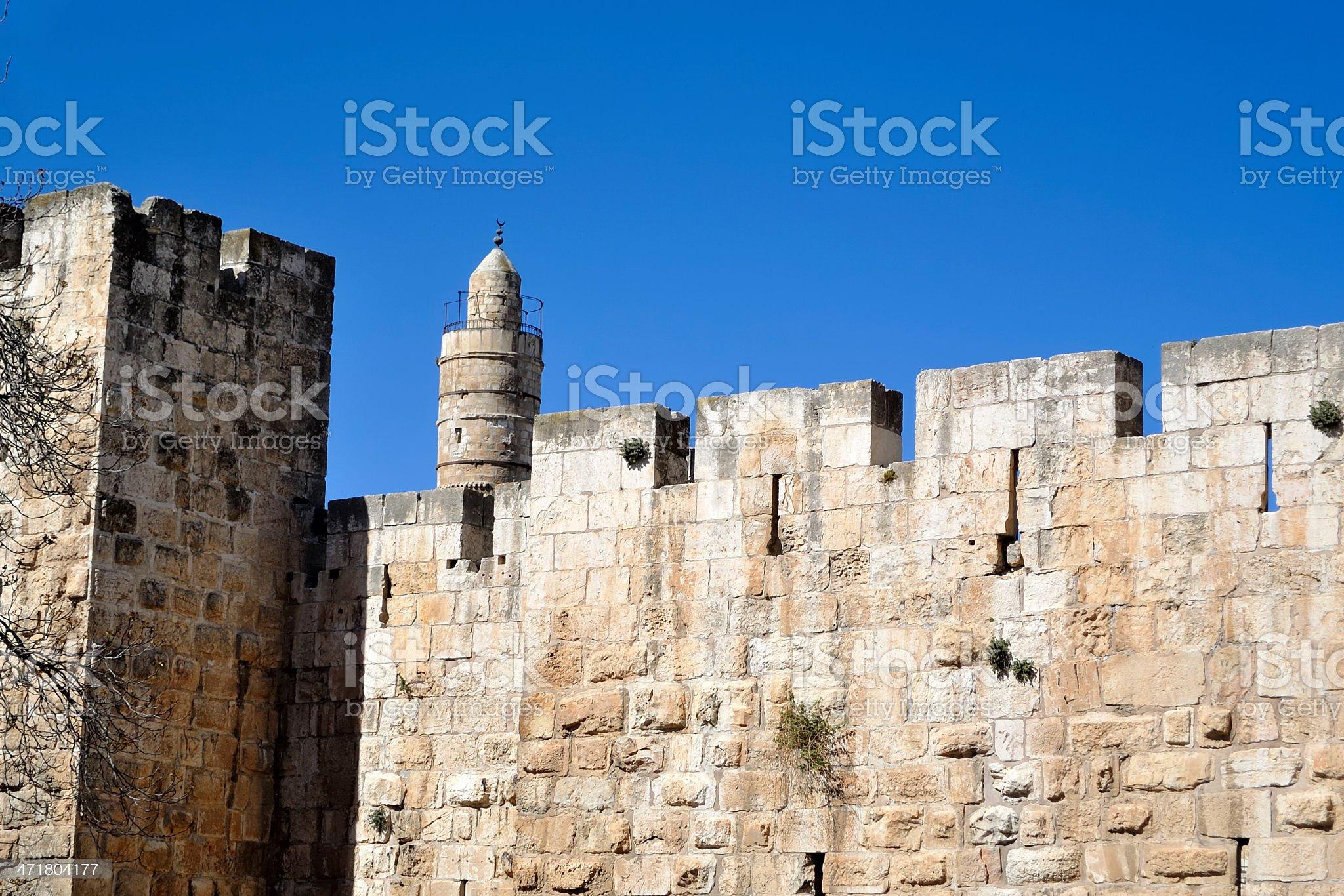 Citadel in old Jerusalem. royalty-free stock photo