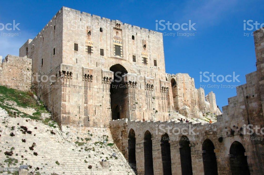 Citadel of Aleppo stock photo
