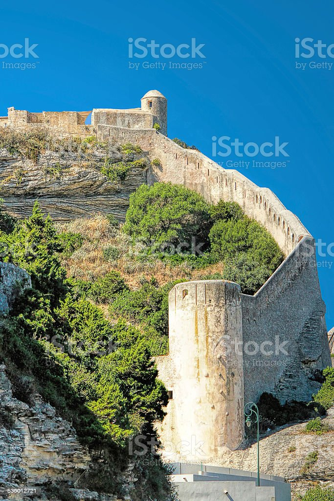 Citadel of Bonifacio - Corsica, France stock photo
