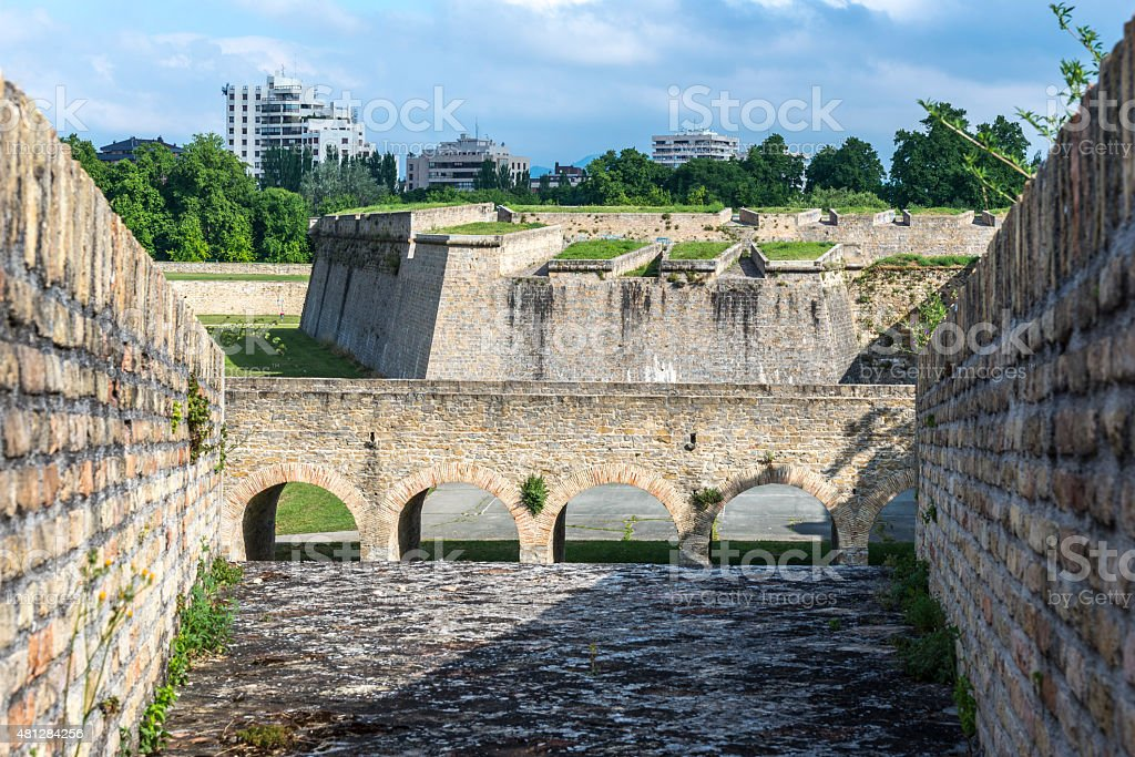 Citadel of Pamplona, Spain stock photo
