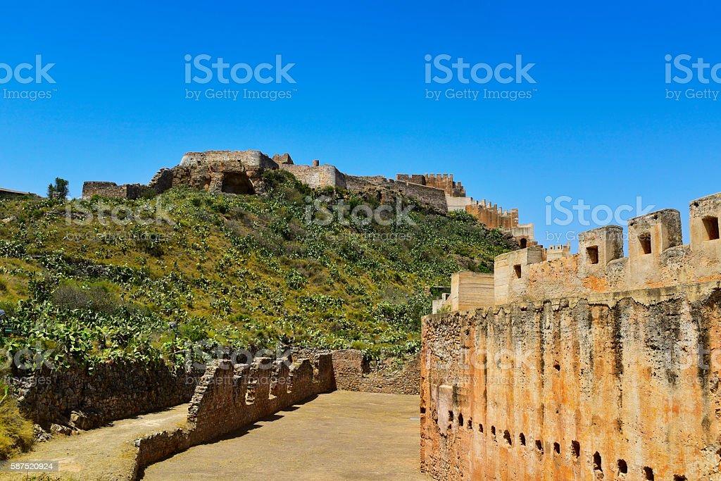 Citadel of Sagunto, Spain stock photo