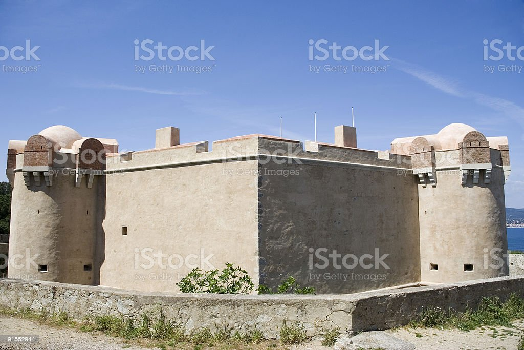 citadel of saint-tropez, france royalty-free stock photo