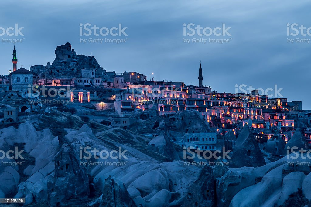 Citadel of Uçhisar in Turkey - Middle East stock photo