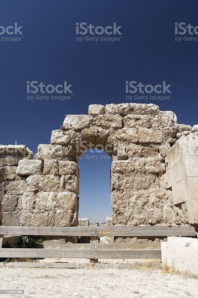 Citadel ruins stock photo