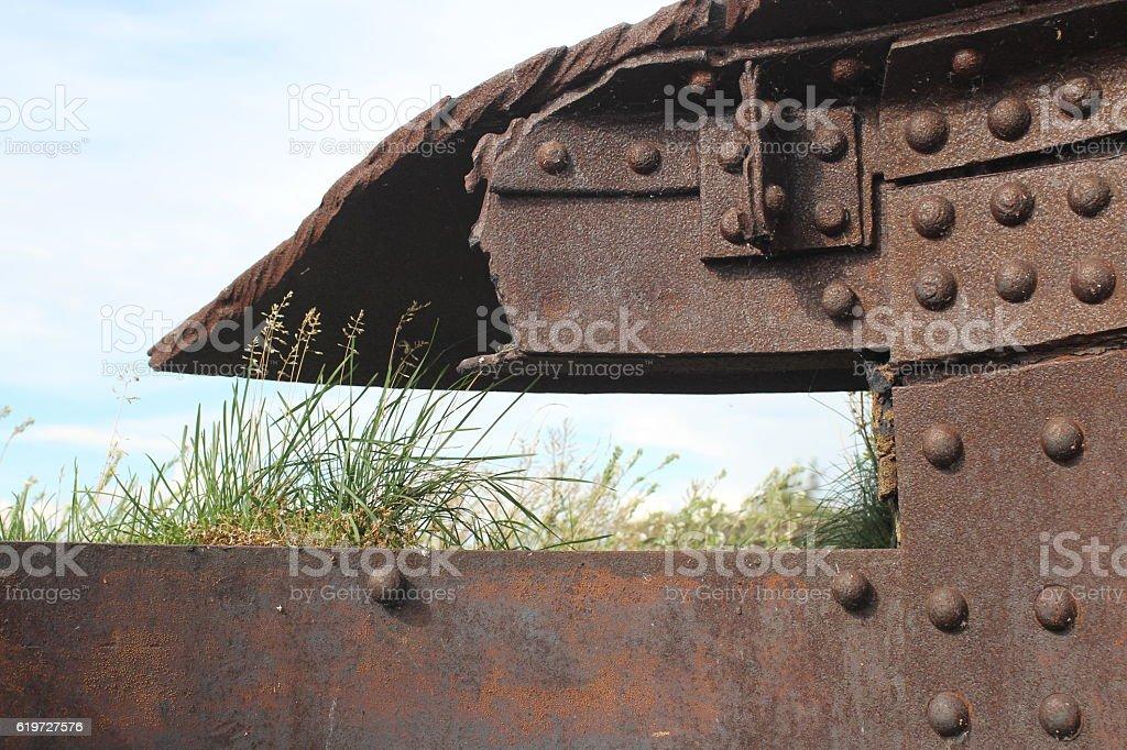 Citadel ruins Steel stock photo