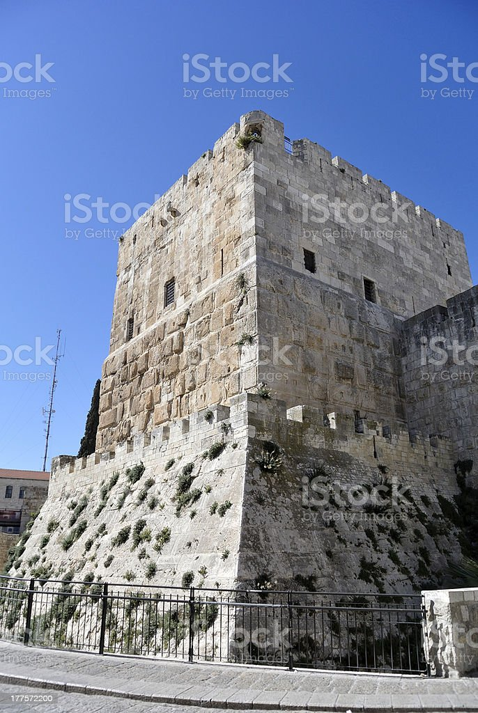 Citadel tower in old Jerusalem. royalty-free stock photo