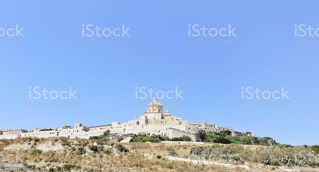 Citadella fortified city on Gozo island, Malta stock photo