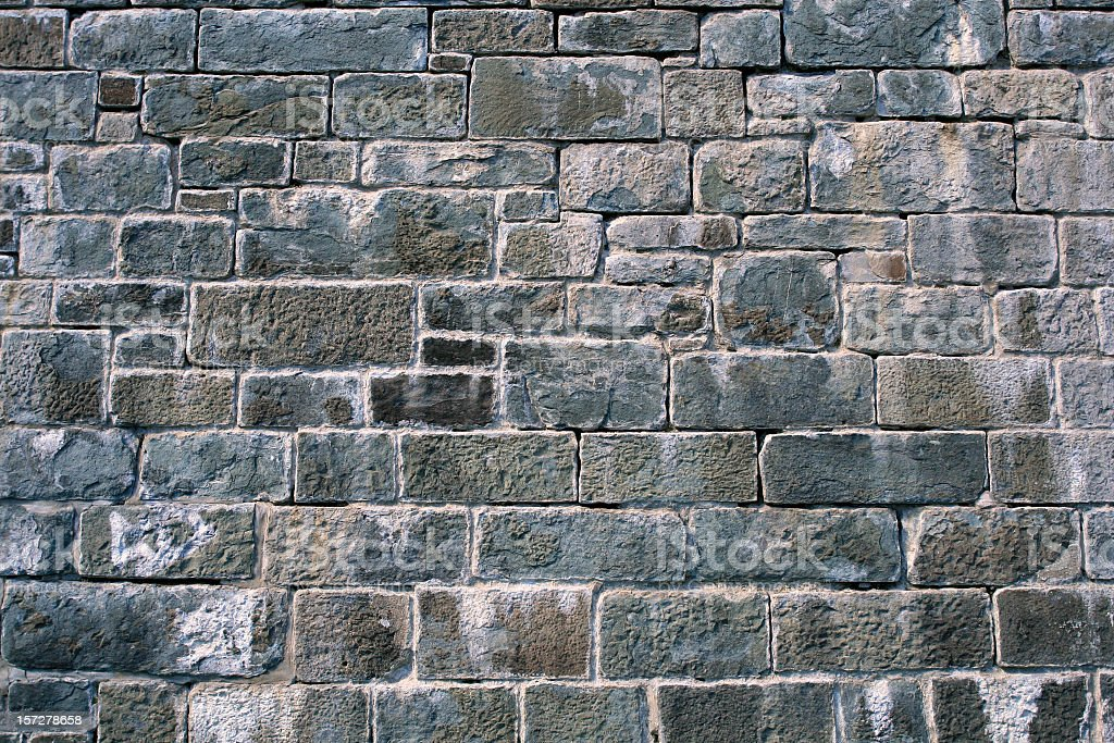 Citadelle de Quebec Grey Brick Wall Background stock photo