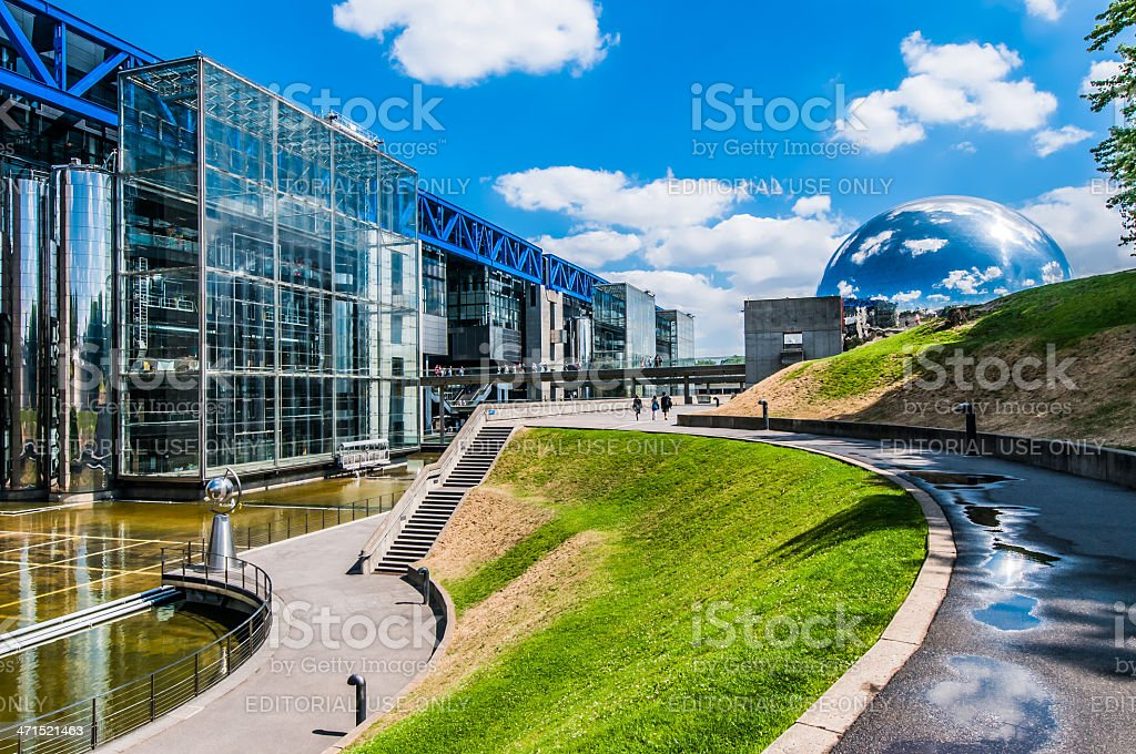 cite des sciences parc de la villette paris city France stock photo