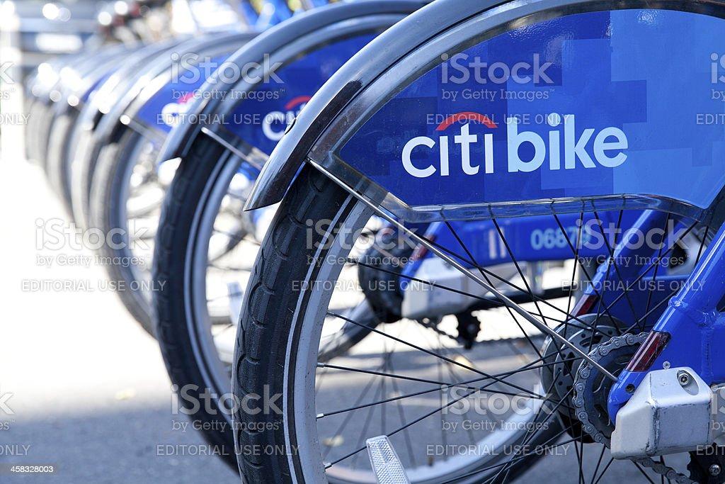 Citi Bike in New York City royalty-free stock photo