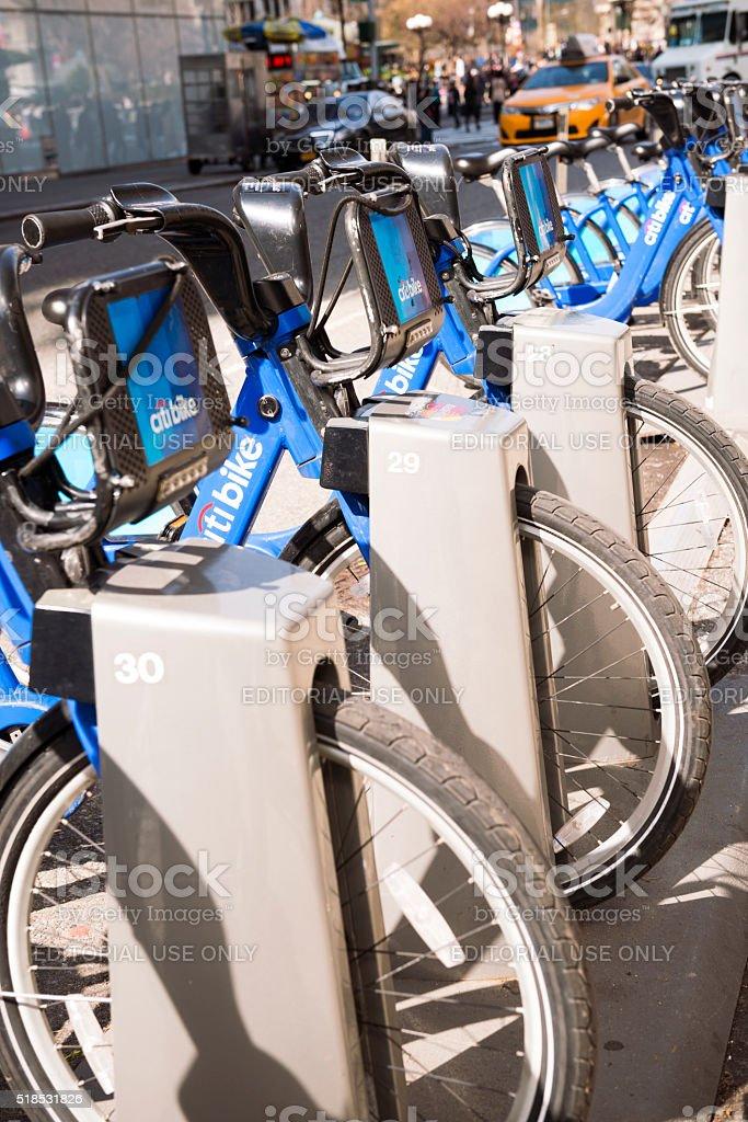 Citi Bike in New York stock photo