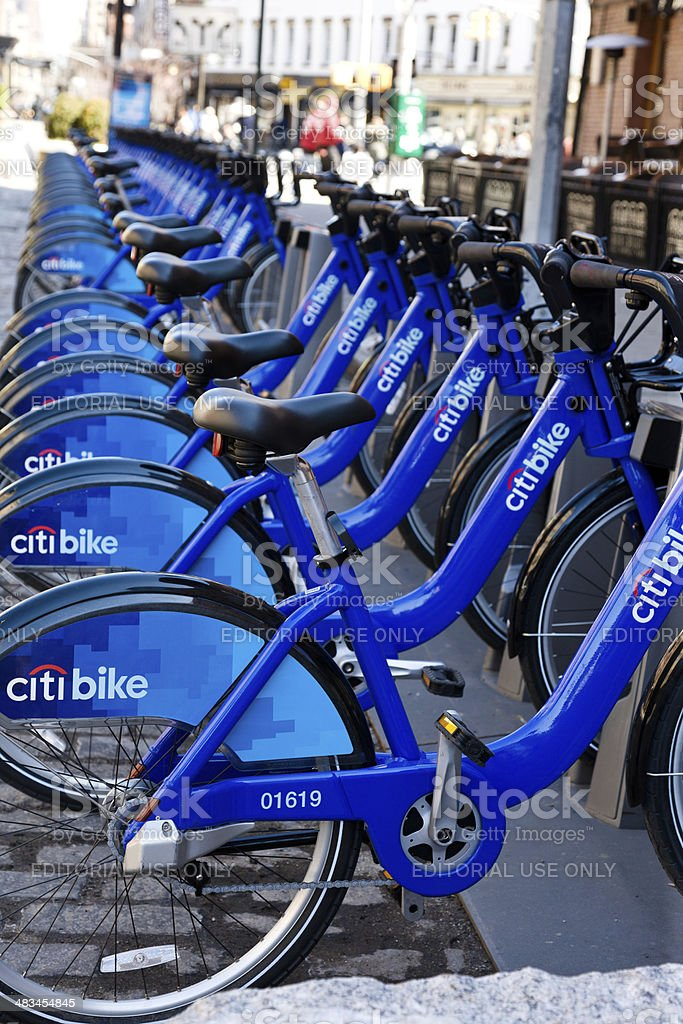 Citi Bike located in Manhattan NY stock photo