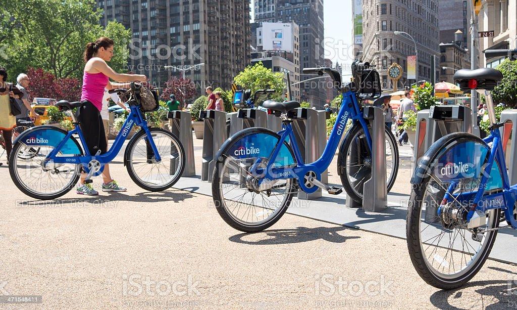 Citi bike royalty-free stock photo