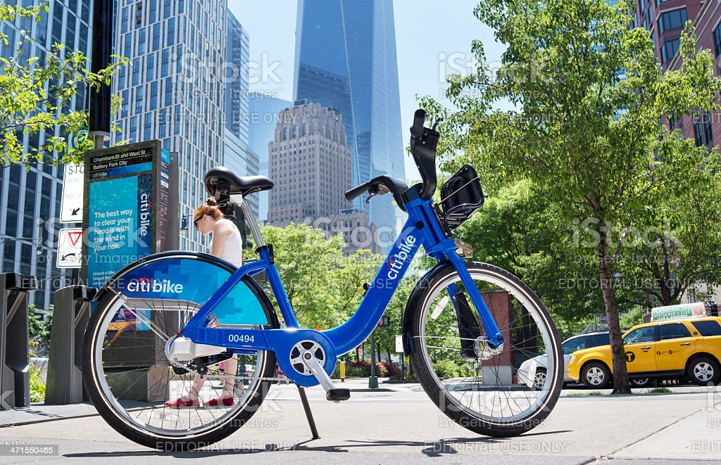 Citi bike royalty-free stock photo