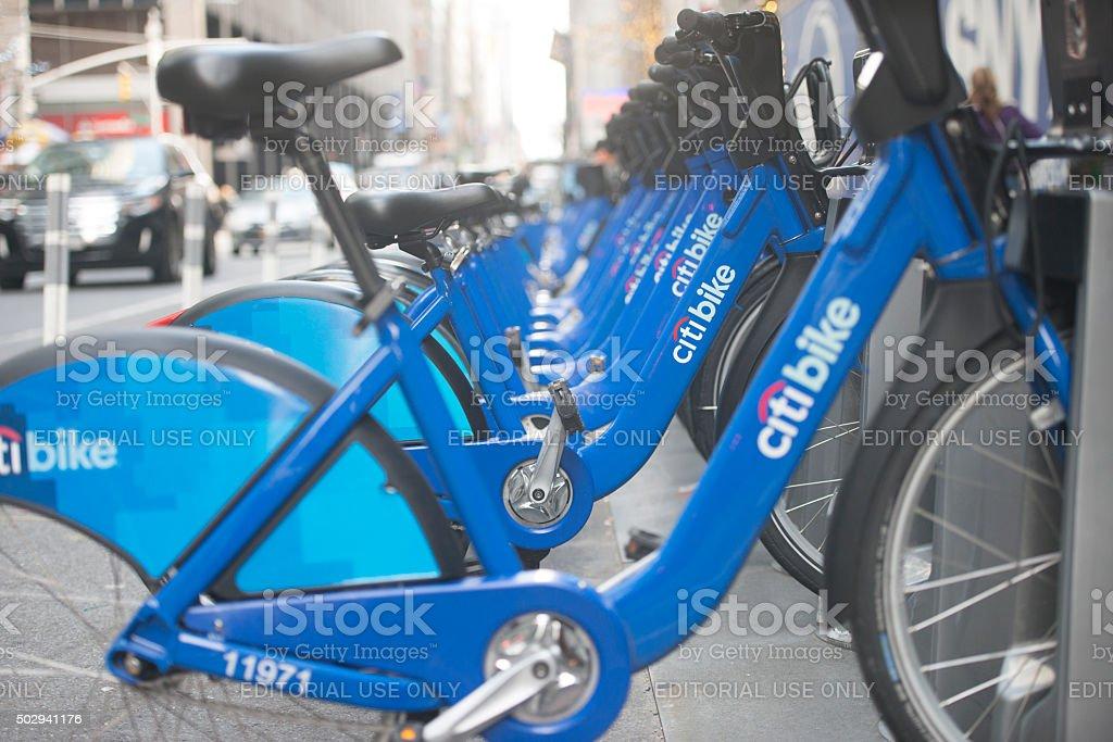 Citi Bike Program stock photo
