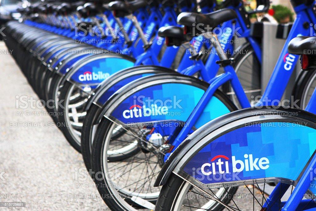 Citi Bike Sharing System Kiosk stock photo