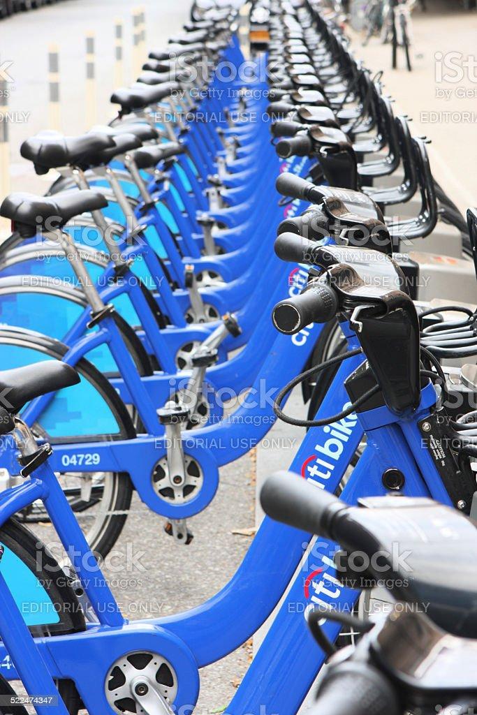 Citi Bike Sharing System stock photo