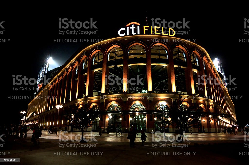 Citi Field in Night stock photo