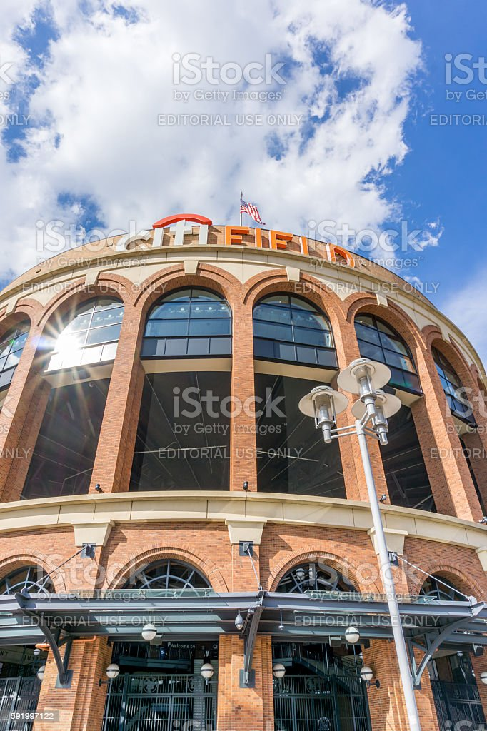 Citi Field is a stadium located in Flushing stock photo