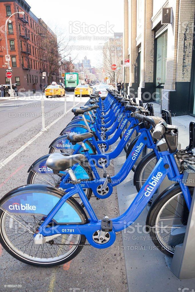 Citibike Bicycle Share stock photo
