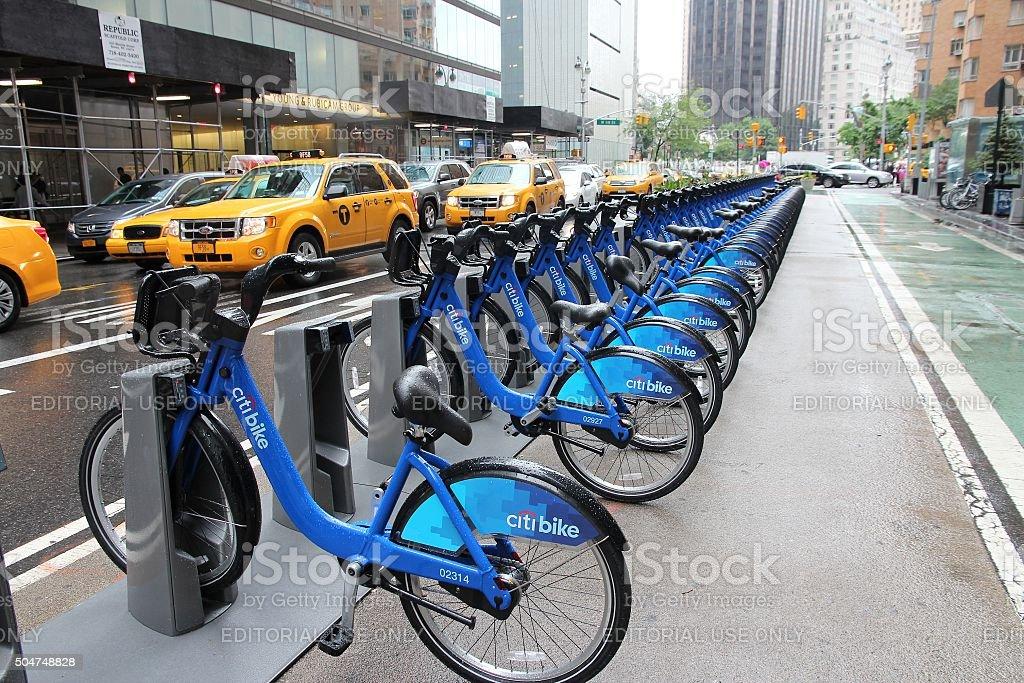 Citibike New York stock photo