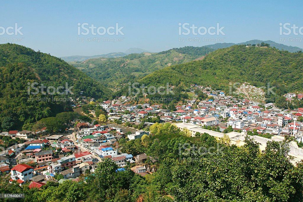 Cities in Valley stock photo